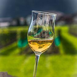 Weißwein im Glas